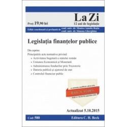 Legislatia finantelor publice. Cod 580. Actualizat la 5.10.2015 -