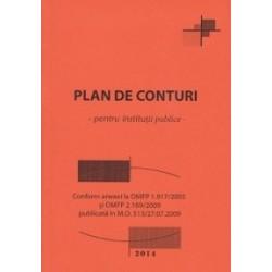 Plan de conturi pentru institutii publice - Conform anexei la OMFP 1.917/2005 si OMFP 2.169/2009 publicata in M.O. 513/27.07.20