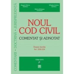 Noul Cod civil - Comentat si adnotat. Despre familie. Art. 258-534. Editie actualizata la 15.06.2015 (brosata) - Mugurel Marius