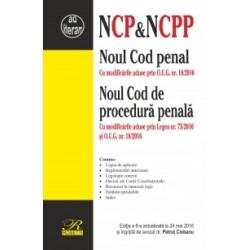 Noul Cod penal & Noul Cod de procedura penala. Cu modificarile aduse prin Legea nr. 75/2016 si O.U.G. nr. 18/2016. Editia a 6-a