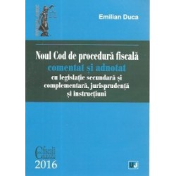 Noul Cod de procedura fiscala comentat si adnotat cu legislatie secundara si complementara, jurisprudenta si instructiuni - 201