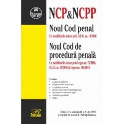 Noul Cod penal si Noul Cod de procedura penala. Cu modificarile aduse prin Legea nr. 75/2016, O.U.G. nr. 18/2016 si Legea nr. 1