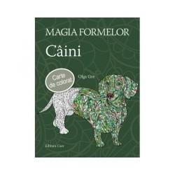 Magia formelor - Caini. Carte de colorat pentru adulti - Olga Gre