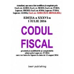 Codul fiscal format A5 - editia a XXXVI-a - 1 iulie 2016 -