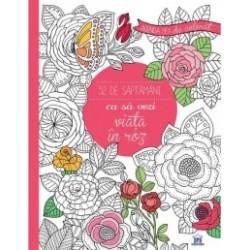 Agenda mea de colorat - 52 de saptamani ca sa vezi viata in roz -