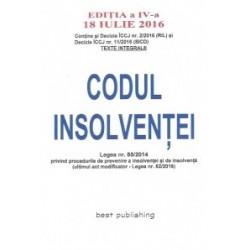 Codul insolventei - editia a IV-a - 18 iulie 2016 -
