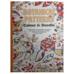 Carte de colorat pentru adulti modele botanice -