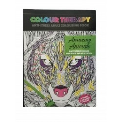 Carte antistres de colorat Amaizing Animals, A4 64 pag -