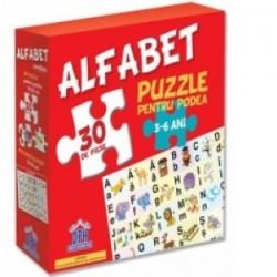 Alfabet - Puzzle pentru podea + Plansa alfabet -