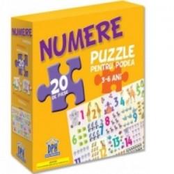 Numere - Puzzle pentru podea + Plansa numere -