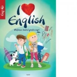 I love English. Dictionar ilustrat pentru copii (Limba maghiara) -