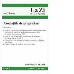 Asociatiile de proprietari. Cod 670. Actualizat la 21.08.2018 - Editura C.H. BECK