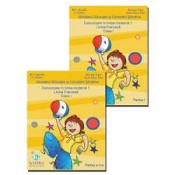 Comunicare in limba moderna 1. Limba Franceza. Clasa I. Set 2 volume Partea I + Partea a II-a - Mariana Visan , Raisa Elena Vl