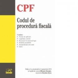 Codul de procedura fiscala. Editia a 4-a actualizata la 2 septembrie 2018 - Mihaela Gherghe, Nicoleta Gociu