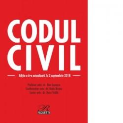 Codul civil. Editia a 6-a actualizata la 2 septembrie 2018 - Doru Traila, Dan Lupascu, Radu Rizoiu