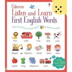 Listen and learn first english words, carte sonora pentru copii, cu peste 120 cuvinte de invatat in limba engleza - Sam Taplin