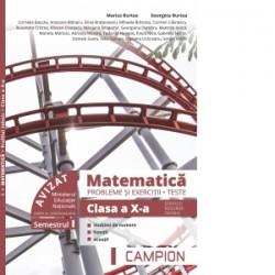 Matematica. Probleme si exercitii. Teste. Clasa a X-a. Semestrul I. Servicii, resurse, tehnic - Marius Burtea, Georgeta Burtea