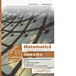 Matematica. Probleme si exercitii. Teste. Clasa a IX-a. Semestrul I. Servicii, resurse, tehnic - Marius Burtea, Georgeta Burtea