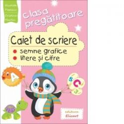 Caiet de scriere pentru clasa pregatitoare - Semne grafice. Litere si cifre - Cristina Martin, Nicoleta Popescu