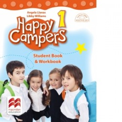 Happy Campers. Student Book, Workbook. Clasa I - Angela Llanas, Libby Williams