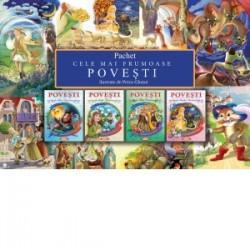 Pachet Cele mai frumoase povesti, 4 carti: Greuceanu, Hansel si Gretel, Frumoasa Lumii, Cenusareasa