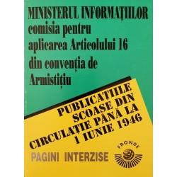 Publicațiile scoase din circulație până la 1 Iunie 1946