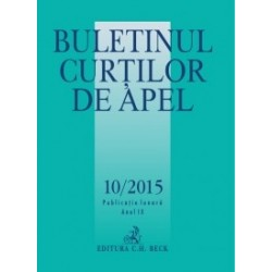 Buletinul Curtilor de Apel nr. 10/2015 -