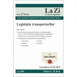 Legislatia transporturilor. Cod 584. Actualizat la 25.10.2015 -