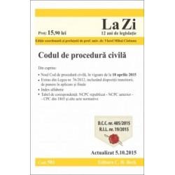 Codul de procedura civila. Cod 581. Actualizat la 5.10.2015 -