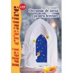 Decupaje de iarna pentru ferestre - Idei creative 119 - Ingrid Moras