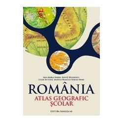 Romania. Atlas geografic scolar - Ana-Maria Marin, Ionut Savulescu, Cezar-Iulian Buterez, Marina Ramona Rujoiu-Mare