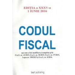 Codul fiscal A4 editia a XXXV-a actualizat la 1 iunie 2016 -