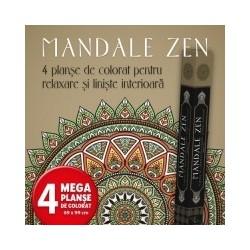 Mandale Zen. 4 planse de colorat pentru relaxare si liniste interioara -