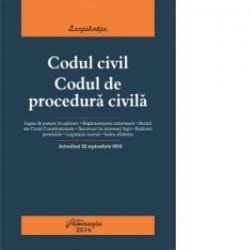 Codul civil. Codul de procedura civila. Actualizat 22 septembrie 2016 -